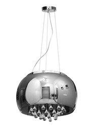 Lampa Szklana Stalowy krople wody 50cm