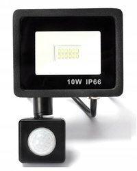 Naświetlacz LED 10W z czujnikiem ruchu halogen barwa biała zimna